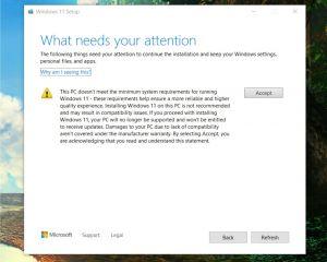 Windows 11 : vous devrez accepter CE risque si vous l'installez sur votre PC