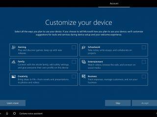 Microsoft veut personnaliser Windows 10 selon l'utilisation prévue de votre PC