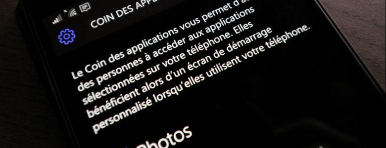 Le coin des applications disparaîtra bien de Windows 10 Mobile