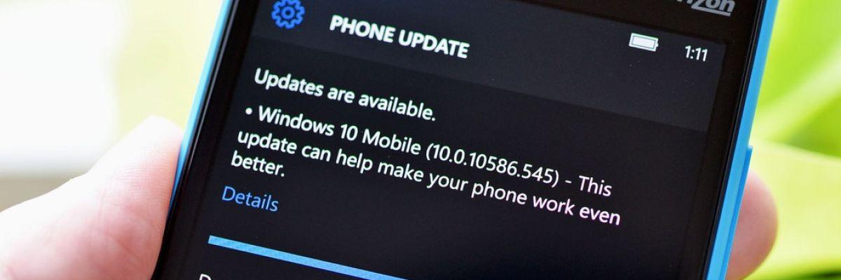 Windows 10 Mobile : la dernière build publique s'avère être... la 10586.545