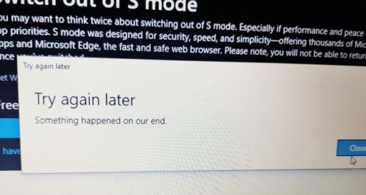 Impossible de désactiver le mode S sur votre Surface Laptop ?