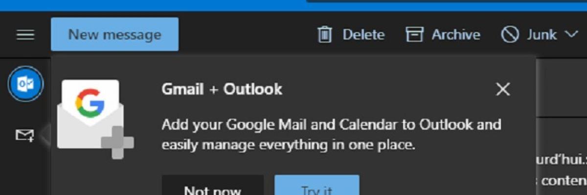 Utiliser Gmail directement depuis Outlook.com, ce sera bientôt possible !