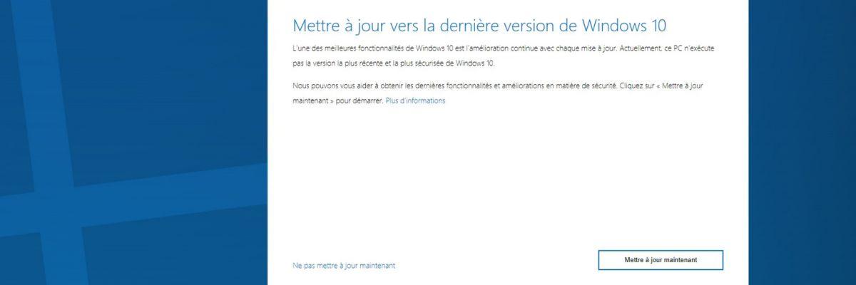 Vous utilisez Windows 10 (version 1803) ? Il est temps de mettre à jour votre PC