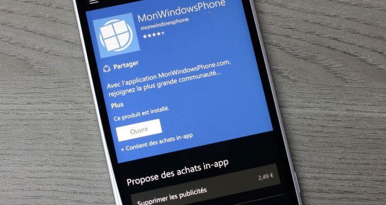 ​Mise à jour de l'application MonWindowsPhone en 4.1.2