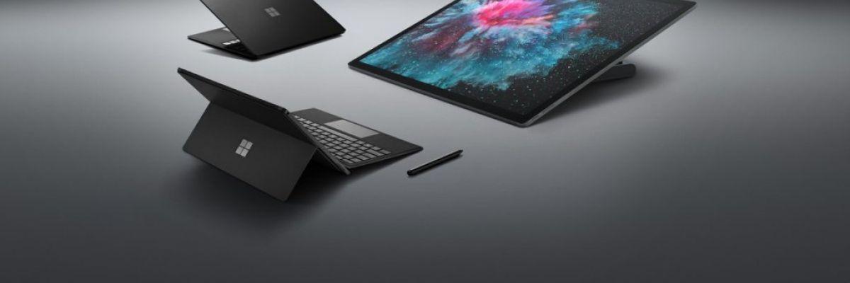 Back to black : Microsoft présente les Surface Pro 6, Laptop 2 et Studio 2