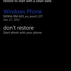 Déconvenue avec le système de back-up d'un Windows Phone 8