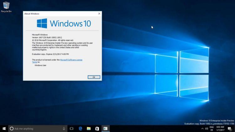 [Windows Insider] Windows 10 : la build 15002 bel et bien dispo en fast ring