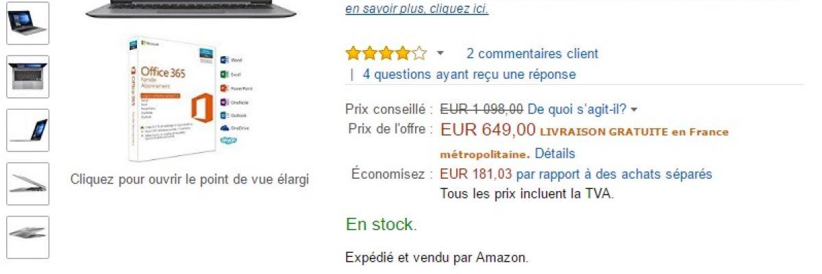 [Ultra bon plan] l'Asus Zenbook UX310UA avec 41% de réduction sur Amazon !