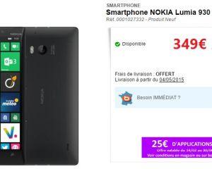 [Bon plan] Le Nokia Lumia 930 à seulement 349€ chez Boulanger