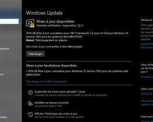 KB4512941 : nouvelle mise à jour facultative pour Windows 10 (1903)