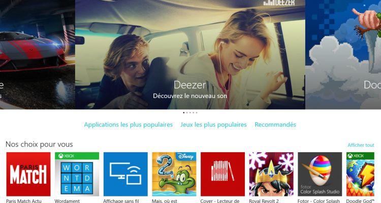 Windows Store : une belle hausse, grâce à Windows 10, pour la fin d'année 2015