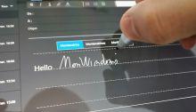 Comment écrire un e-mail avec son stylet sur Windows 10 avec Courrier ?