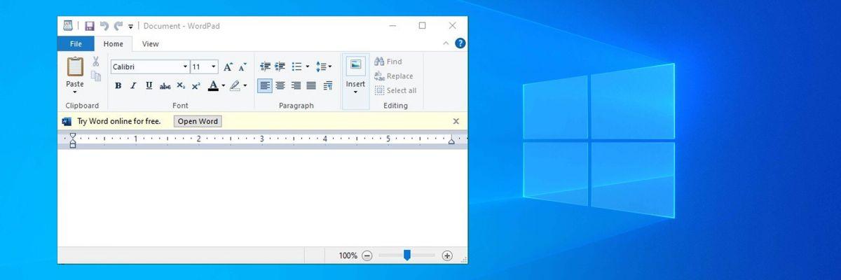 Microsoft teste de la publicité dans WordPad (et c'est le drame)