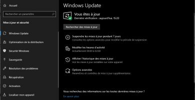 KB5005611 : une nouvelle mise à jour débarque pour Windows 10