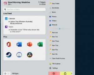 Que pensez-vous de ce concept de Menu Démarrer pour Windows 10 ?