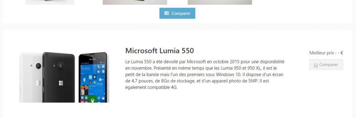 Comparatif des Lumia 950, 950XL, 930 et d'autres Windows Phone