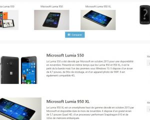 Comparatif des Lumia 950, 950XL, 930 et d'autres Windows Phone