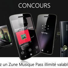 Concours : on vous offre un Zune Musique Pass illimité valable 1 an !