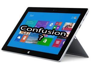 Microsoft reconnait la confusion entre W8 et WRT