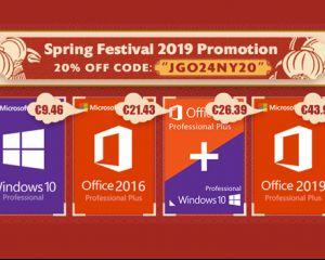 Les promos du Festival du Printemps : Windows 10 à 9,46€, Office 2016 à 21,43€