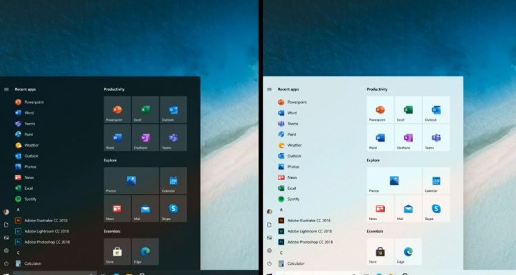 ​Officiel : Microsoft montre le « nouveau » Menu Démarrer de Windows 10