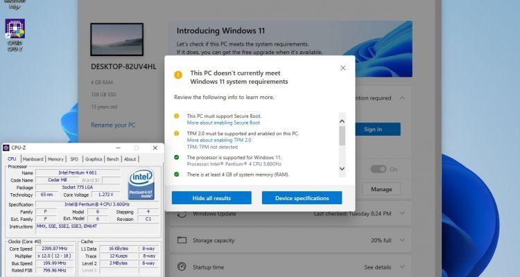 """Insolite : un processeur Intel de 2006 est """"compatible"""" avec Windows 11"""