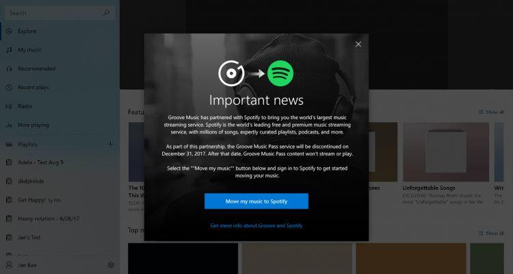Adieu Groove Music, bonjour Spotify ! Microsoft arrête son service musical