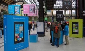 L'équipe Windows Phone dans les gares en France et à la Défense