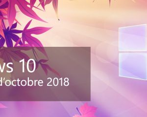 La mise à jour d'octobre 2018 de Windows 10 est disponible !