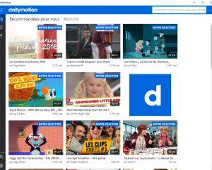 """DailyMotion passe à son tour par la case """"appli universelle"""" pour Windows 10"""