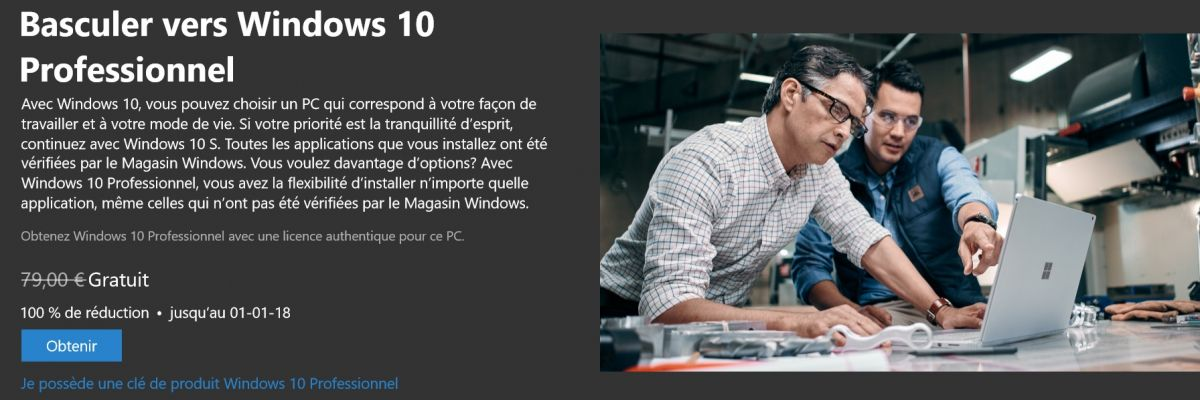 Windows 10 S : la mise à jour vers Windows 10 coûtera 79€ ?