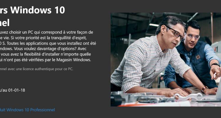 Windows 10 S : la mise à jour vers Windows 10 coûtera 79€ ?