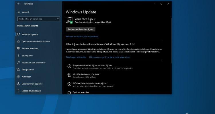 KB5003698 : une nouvelle mise à jour est disponible pour Windows 10
