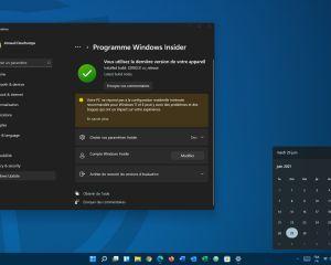 Windows 11 débarque dans le canal Beta pour les Insiders