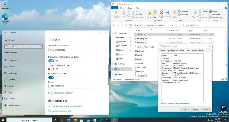Windows 10 : la barre des tâches bientôt séparée de l'Explorateur de fichiers ?