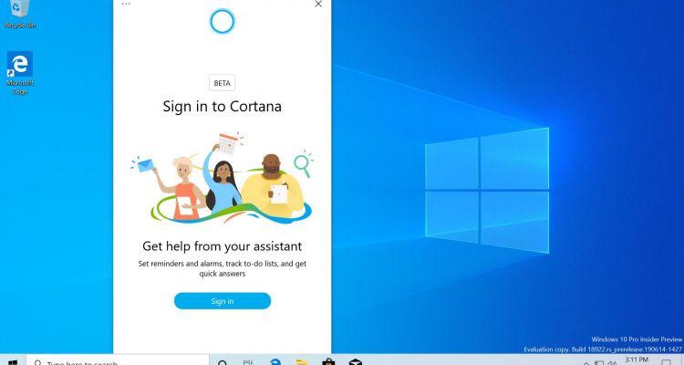 Cortana pour Windows 10 sera bientôt mise à jour depuis le Microsoft Store