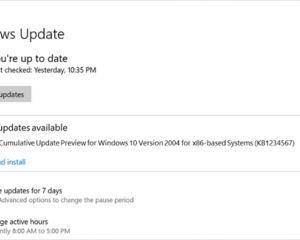 Les mises à jour facultatives, de retour dès juillet sur Windows 10