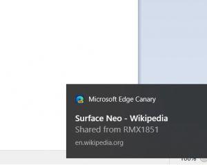 Microsoft Edge : le partage d'onglet entre PC et mobile sous Android débarque