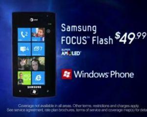 Une publicité pour le Samsung Focus Flash