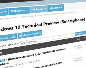 Le forum Windows 10 Technical Preview est ouvert