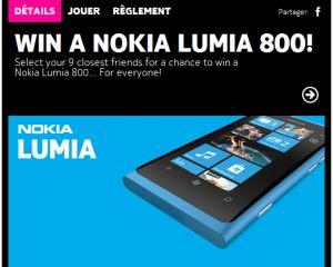 Concours Nokia : gagnez un Windows Phone pour vous et 9 de vos amis !