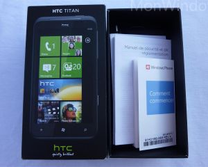 Déballage du HTC Titan par Mon Windows Phone