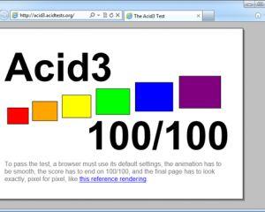 Internet Explorer 9 mobile fait 100% au test Acid3 !