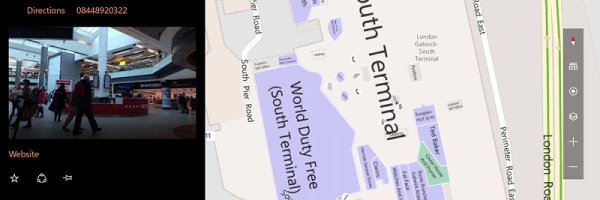 Cartes Windows se met à jour et offre les plans des aéroports et des terminaux