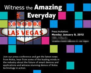 Nokia dévoile un évènement presse pour la veille du CES 2012 [MAJ]