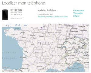 [Tuto] Localiser votre Windows Phone à distance