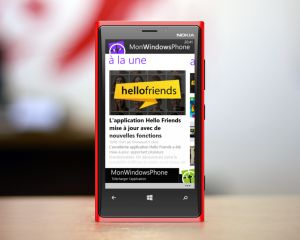Mise à jour de l'application MonWindowsPhone sur Windows Phone