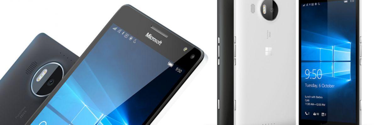 Les Lumia 950 et 950 XL en précommande sur le Microsoft Store