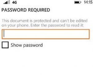 Windows Phone 8.1 GDR1 : ouvrir un fichier Office protégé par mdp