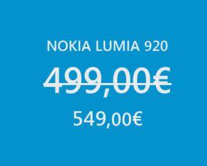 [MAJ] Le Nokia Lumia 920 finalement disponible pour 549€ chez Sosh